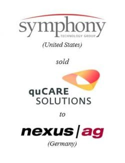 Symphony Technology Group sold quCare Solutions to Nexus AG