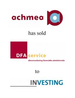 Achmea has sold DFA service to InVesting