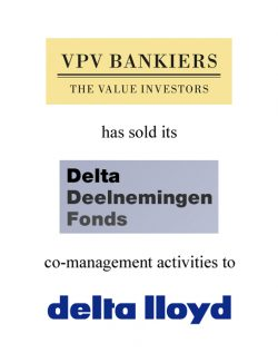 Co-management activities Delta Deelnemingen Fonds sold by VPV Bankiers