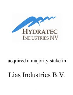 Hydratec acquired a 88.5% stake in Lias Industries