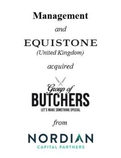 Management and Equistone acquired Group of Butchers from Nordian