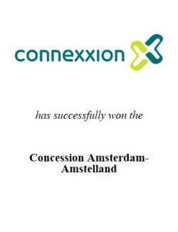 Connexxion OV has successfully won the competitive tender process for concession Amsterdam-Amstelland