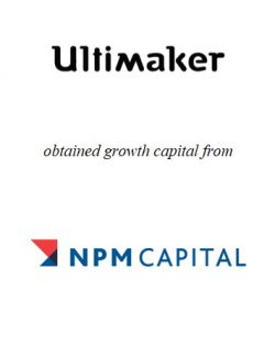 Ultimaker obtained growth capital from NPM Capital