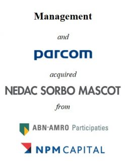 Management and Parcom Capital acquired Nedac Sorbo Mascot from Capital A and NPM Capital
