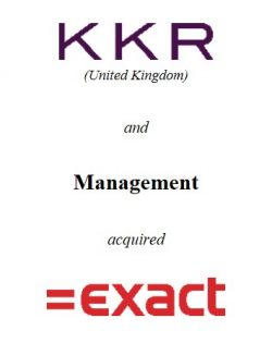 KKR and management acquired Exact Software from Apax Partners