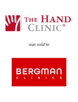 The Hand Clinic was sold to Bergman Clinics